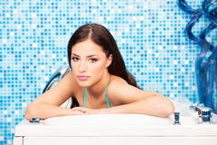 Woman in spa center Stock Photo