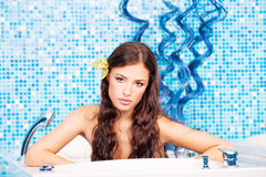 Woman in spa center Stock Photography