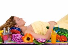 Woman, spa center Stock Photos