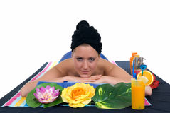 Woman, spa center Royalty Free Stock Photography