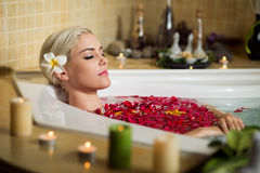 Woman in spa center Royalty Free Stock Photo