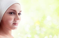 Woman in spa clinic Royalty Free Stock Photo
