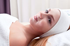 Woman in spa clinic Royalty Free Stock Image