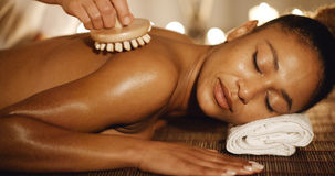 Woman In Spa Environment Royalty Free Stock Photography
