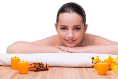 The woman in spa health concept Stock Photo