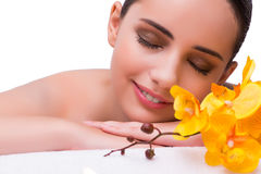 The woman in spa health concept Stock Images