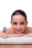 The woman in spa health concept Stock Photos