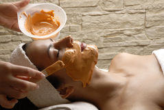 Woman spa and mask. Stock Images