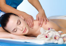 Woman in spa massage Royalty Free Stock Photo