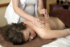 Woman on spa massage Stock Photography