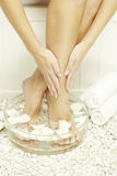 Woman spa pedicure royalty free stock photography