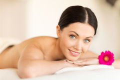 Woman in spa Stock Images