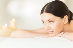 Woman in spa Stock Photos