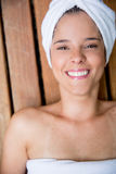 Woman in a spa Stock Images