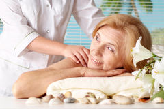 Woman at the spa Stock Photos