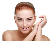 Woman after spa Royalty Free Stock Image