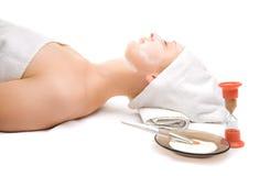 Woman at spa procedures Stock Photos