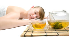 Woman at spa procedures Stock Photography