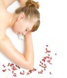 Woman at spa procedures Royalty Free Stock Photos