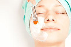 Woman at spa procedures Royalty Free Stock Images