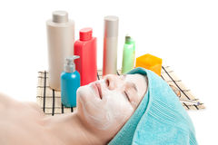 Woman at spa procedures Royalty Free Stock Image