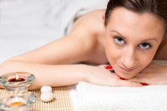 Woman Spa Relax Royalty Free Stock Photos