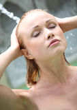 Woman in spa resort Stock Photo