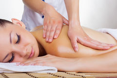 Woman in the spa salon Stock Image