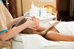 Woman in spa salon Royalty Free Stock Photography