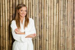 Woman in spa salon Stock Photography