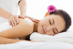 Woman in spa salon getting massage Royalty Free Stock Image