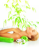 Woman in spa salon Royalty Free Stock Images