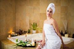 Woman in spa salon Stock Photo