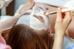 Woman in spa salon royalty free stock photo