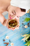 Woman in spa salon Stock Image