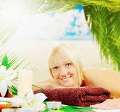 Woman in a spa salon Stock Photography