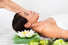 Woman in spa saloon Royalty Free Stock Images
