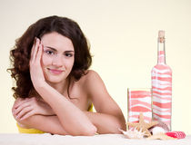 Woman with spa salt and soap Stock Image