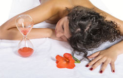 Woman during spa treatment Royalty Free Stock Photos