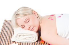 Woman and spa treatment Stock Photo