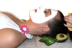 Woman in spa treatment   Stock Image