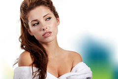 Woman before spa treatment Royalty Free Stock Photography