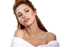 woman before spa treatment Stock Image