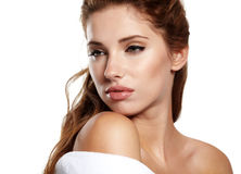 Woman before spa treatment Stock Photography