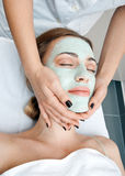 Woman in spa treatment Stock Photos