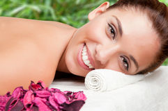 Woman in a Spa Royalty Free Stock Image