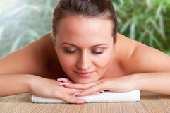 Woman in a Spa Stock Photo
