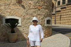 Woman in Spain Stock Image