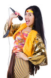 Woman in spanish clothing Stock Photos