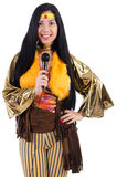 Woman in spanish clothing Royalty Free Stock Image